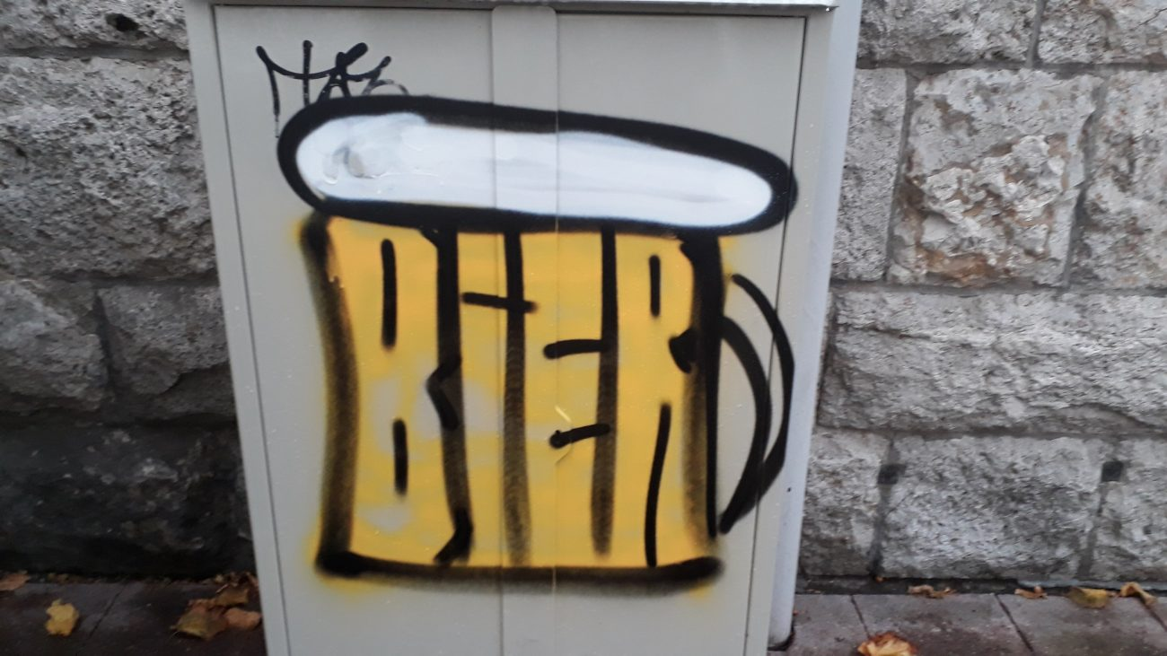 Bier Streetart Fulda